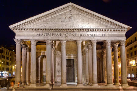 commissioned: The Pantheon, a building which was commissioned by Marcus Agrippa as a temple to all the gods of Ancient Rome Stock Photo