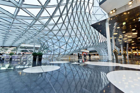 shop interior: The interior of MyZeil Shopping Mall in Frankfurt Germany