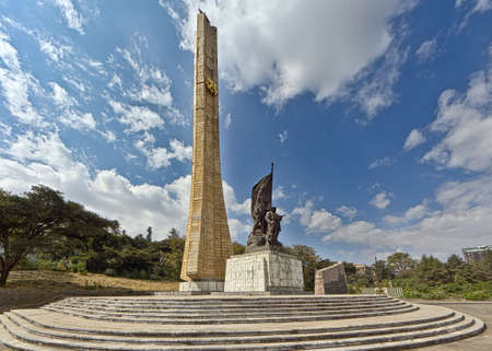 ababa: A monument erected in honor of Ethiopian soldiers in Addis Ababa