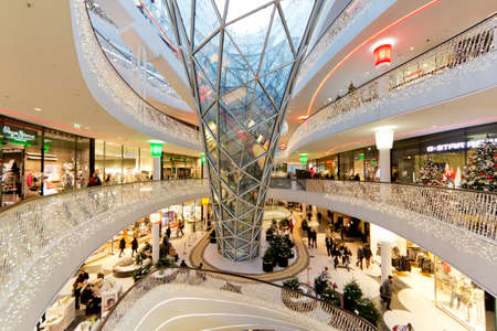 The interior of MyZeil Shopping Mall in Frankfurt Germany Stock Photo - 12147833