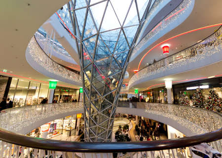The interior of MyZeil Shopping Mall in Frankfurt Germany Stock Photo - 12147828