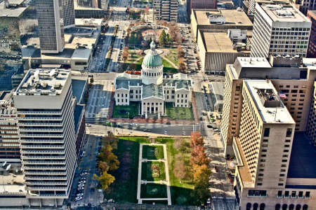 Aerial view of the city of St. Louis, Missouri Imagens
