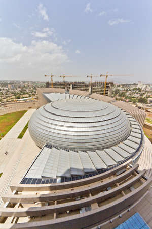 ababa: A viwe of the roof of the newly constructed African Union Hall in Addis Ababa, Ethiopia