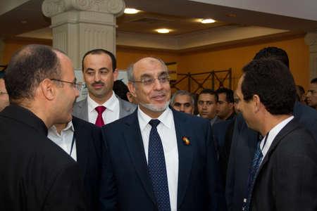 delegates: Hammamet - 19 settembre: il signor Hamadi Jebali, capo del governo tunisino in occasione dell'inaugurazione della Mostra ICT4all terr� presso il Centro Congressi ed Esposizioni di Medina-Hammamet a Yasmine Hammamet, in Tunisia il 19 settembre, 2012