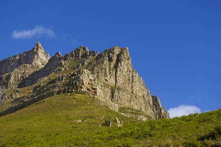 A rocky and steep mountain in Cape Town, South Africa