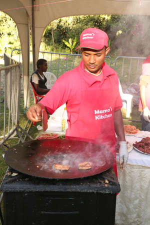 cuisine entertainment: Addis Ababa – November 18: Restaurants and caterers prepare local and international cuisines for the palates of Addis Ababa residents attending the 2012 Taste of Addis food festival on November 18, 2012 in Addis Ababa, Ethiopia Editorial