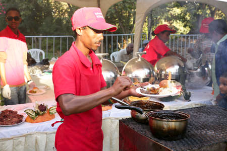 caterers: Addis Ababa – November 18: Restaurants and caterers prepare local and international cuisines for the palates of Addis Ababa residents attending the 2012 Taste of Addis food festival on November 18, 2012 in Addis Ababa, Ethiopia Editorial