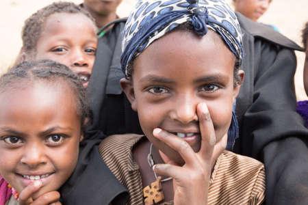 Children from the villages nead Suba, Menagesha area in Ethiopia Editorial