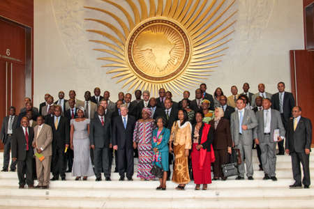 zuma: Addis Ababa, Ethiopia – March 18: German President Joachim Gauck takes a group photograph with senior AU officials at the African Union Commission Head Quarters in Addis Ababa, Ethiopia on March 18, 2013