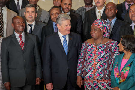 zuma: Addis Ababa, Ethiopia – March 18: German President takes a group picture with AU Chairperson and and senior officials at the AUC Head Quarters in Addis Ababa, Ethiopia on March 18, 2013