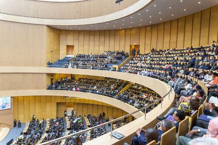 アディスアベバ、エチオピア 5 月 25 日: エチオピア首相、国連事務総長、AUC 委員長と委員、および識別の宿泊に廉アフリカ連合委員会本社で OAUAU