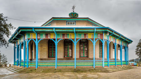 Entoto Mariam Church which was built by Emperor Menelik II in 1882 on Mount Entoto in Addis Ababa, Ethiopia