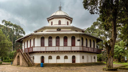 ababa: St. Raguel Ethiopian Orthodox Church built in the 1880s by Emperor Menelik II. Editorial