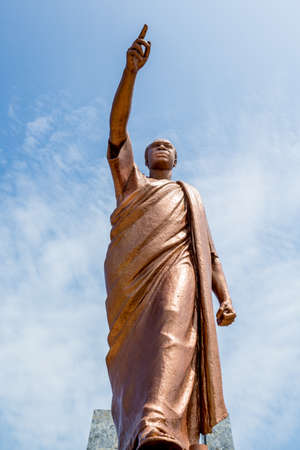 The statue of the former president Kwame Nkrumah of Ghana, the father of Pan-Africanism