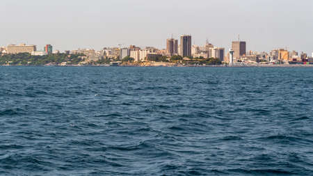 water's: The beautiful waters of the Atlantic ocean with its rocky coastline near the City of Dakar in Senegal