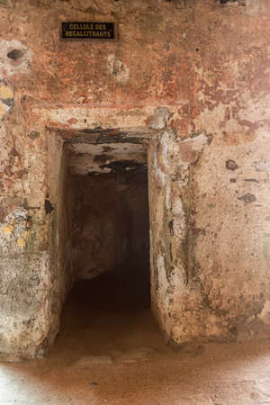 In the house of slaves on Gorée Island, those who were deemed uncooperative were locked up for several days in this tiny cell less than a meter and a half high.