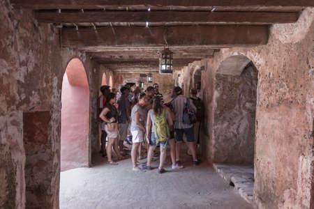 Touists visiting the House of Slaves are given detailed accounts of  how slaves were exported from Gorée Island.