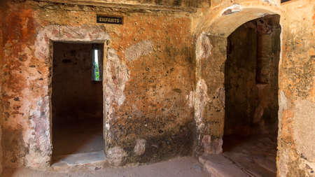 Entrance to the cells were young children who were separated from their parents were kept in the house of slaves on Gorée Island