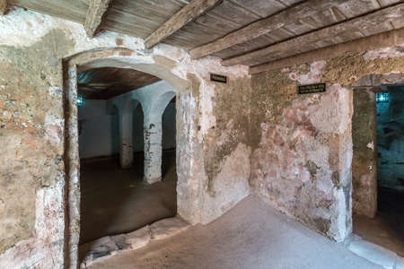 deemed: Two entrances to the cells where women and slaves who weighed less than 60 kilograms deemed temporarily unfit were kept in the house of slaves on Gorée Island