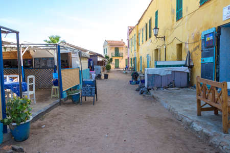 Restaurants on Gorée Island open early in the morning to serve the early bird tourists getting off the ferry from Dakar.