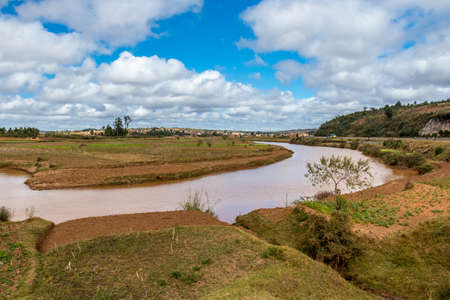 The beautiful landscapes of the central highland areas of Madagascar