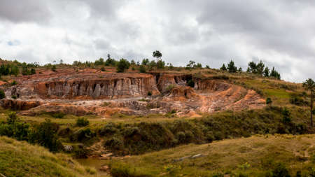 Beautiful Malagasy landscape with eroded hills forming interesting geological features Reklamní fotografie