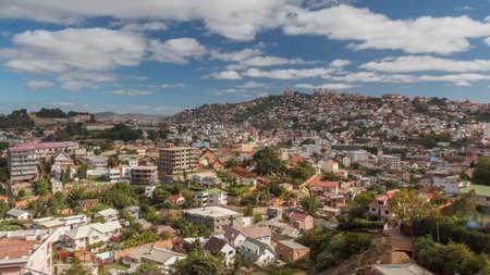 Aerial view of the Antananarivo, capital city of Madagascar