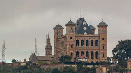 The Manjakamiadana Rova, also called the Queens Palace, is a landmark of Antananarivo which served as the residence of the kings and queens of the Madagascar. Reklamní fotografie