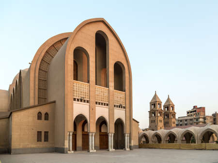 coptic orthodox: St. Marks Coptic Orthodox Cathedral, which is the seat of the Coptic Orthodox Pope is located in the Abbassia District in Cairo, Egypt. Stock Photo