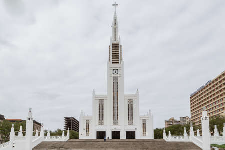 our: The exterior of the Cathedral of Our Lady of the Immaculate Conception in Maputo, Mozambique Stock Photo