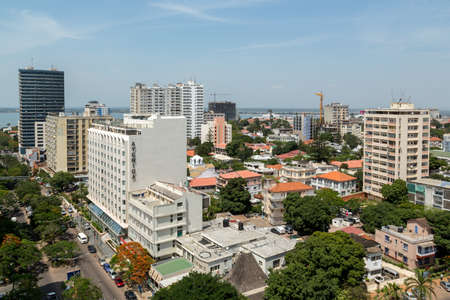 Aerial view the downtown area of Maputo, the capital city of Mozambique Banco de Imagens