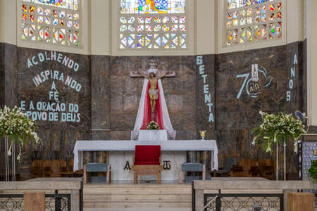 Maputo, Mozambique - Nov 27. Tourists can visit the Cathedral of Our Lady of the Immaculate Conception outside service hours. Nov 27, 2014 - Maputo, Mozambique Redakční