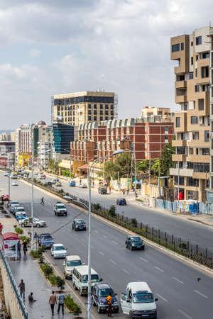 ababa: The neighborhoods of bole area of the capital city of Ethiopia, Addis Ababa