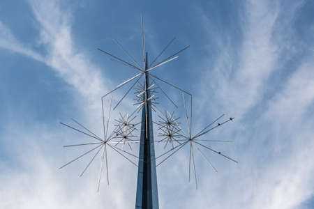 スミソニアン自然な空気および宇宙博物館、ワシントン DC の入り口で発見されているユニークな金属構造 写真素材 - 36471893