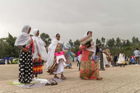 ethiopian: Addis Ababa: April 10: Devoted Ethiopian Orthodox followers observe Siklet, the crucifixion of Jesus Christ, at Bole Medhane Alem Church on April 10 ,2015 in Addis Ababa, Ethiopia