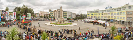 invading: Addis Ababa  May 5: Ethiopian celebrate the 74th anniversary of Patriots Victory day commemorating Ethiopas victory over the invading Italians on May 5 2015 in Addis Ababa Ethiopia.