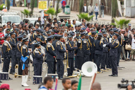sovereignty: Addis Ababa  May 5: Ethiopian celebrate the 74th anniversary of Patriots Victory day commemorating Ethiopas victory over the invading Italians on May 5 2015 in Addis Ababa Ethiopia.