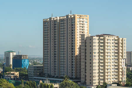 View of the downtown area of the city of Dar Es Salaam, Tanzania