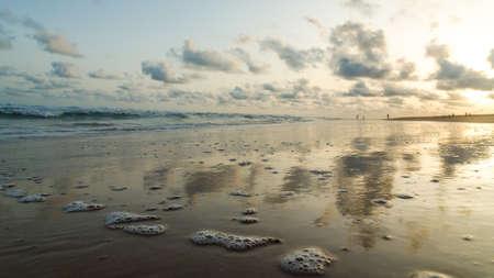 The beautiful shores of the Atlantic Ocean coastline at Obama Beach in Cotonou, Benin