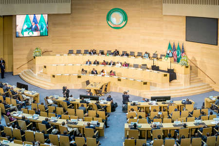 delivers: Addis Ababa - July 28: President Obama delivers a keynote speech to the African continent and its leaders, on July 28, 2015, at the Nelson Mandela Hall of the AU Conference Centre in Addis Ababa, Ethiopia.