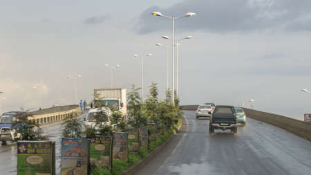 ababa: Addis Ababa - July 22: Vehicles driving on an overpass near Gotera area of Addis Ababa July 22, 2015 in Addis Ababa, Ethiopia
