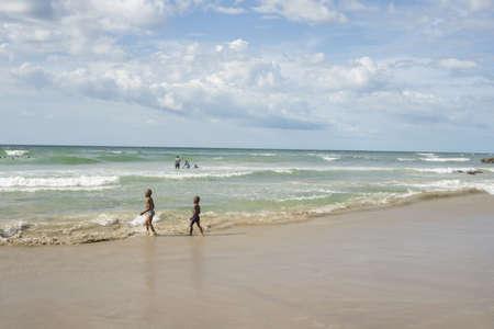 Dakar: August 21: Local residents of Dakar enjoy their  afternoon at a Beach by the Atlantic Ocean on August 2, 2015 in Dakar, Senegal.