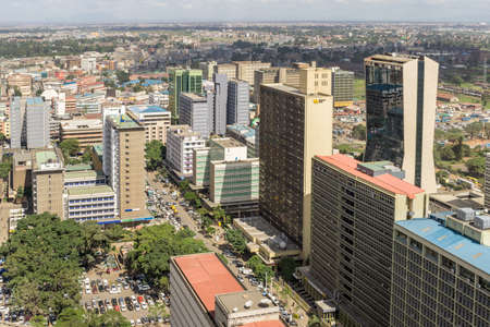 View of the downtown area of the city of Nairobi, Kenya Publikacyjne