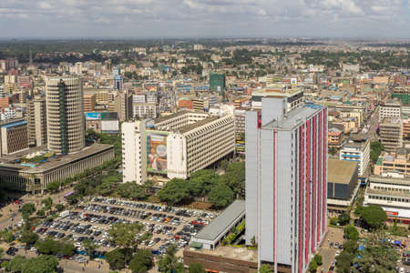 nairobi: View of the downtown area of the city of Nairobi, Kenya Editorial