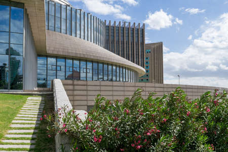 ababa: The New Conference Centre of the African Union Commission headquarters in Addis Ababa, Ethiopia