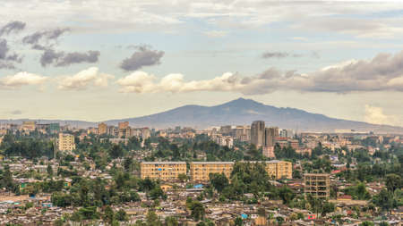 ababa: Aerial view of the Addis Ababa, the capital city of Ethiopia