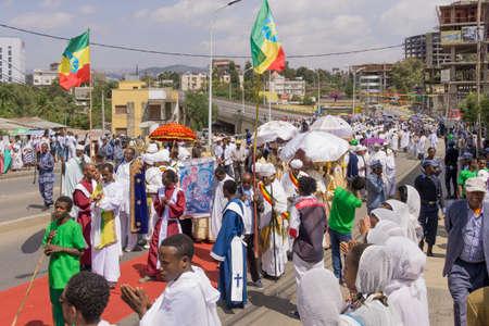 addis: Addis Ababa - Jan 20: Ethiopian Orthodox followers celebrate Timket,  the Ethiopian Orthodox celebration of Epiphany, on January 20, 2016 in Addis Ababa, Ethiopia. Editorial