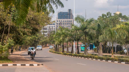 Kigali - June 15: Kigali is regarded as one of the cleanest cities in Africa with beautiful landscaping, spotless and orderly streets. June 15, 2016 Kigali, Rwanda