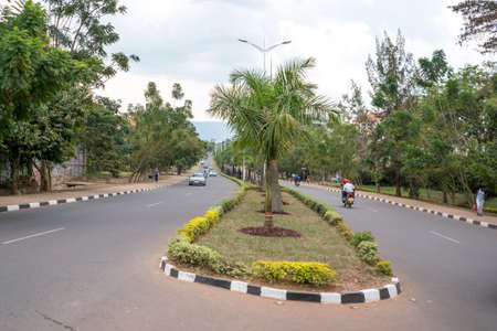 spotless: Kigali - June 15: Kigali is regarded as one of the cleanest cities in Africa with beautiful landscaping, spotless and orderly streets. June 15, 2016 Kigali, Rwanda