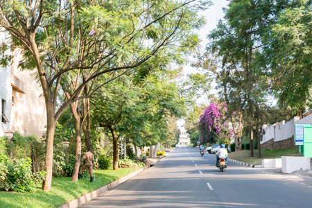 Kigali - June 14: Kigali is regarded as one of the cleanest cities in Africa with beautiful landscaping, spotless and orderly streets. June 14, 2016 Kigali, Rwanda Editorial